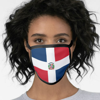 Dominican flag face mask