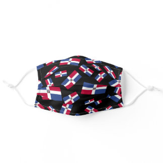 Dominican Rep Flag | Clustered Pattern Adult Cloth Adult Cloth Face Mask