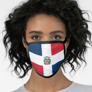 Dominican Republic Flag Mask - fashion/sports fans