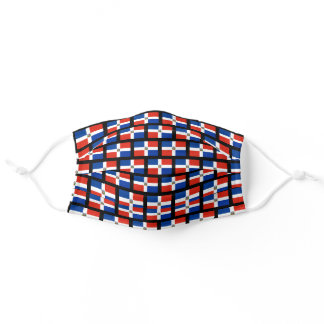 Dominican Republic flag pattern Adult Cloth Face Mask