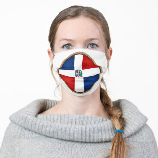 Dominican Republic Flag Seal Adult Cloth Face Mask