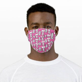 Domino Pieces Dominoes Board Game Pink Glitter Adult Cloth Face Mask