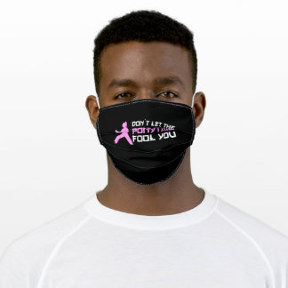 dont let the ponytail fool you adult cloth face mask
