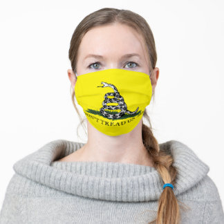 Don't Tread On Me (on Yellow) Cloth Face Mask