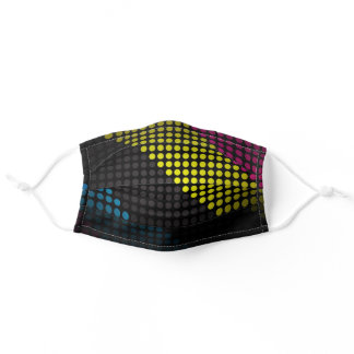 Dots Cloth Face Mask with Filter Slot