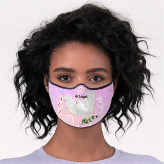 Dove of Peace Easter Premium Face Mask