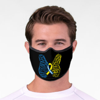 Down Syndrome Awareness Butterfly Special Premium Face Mask