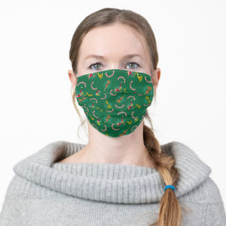 Dr. Seuss | The Grinch | Merry Grinchmas Pattern Adult Cloth Face Mask