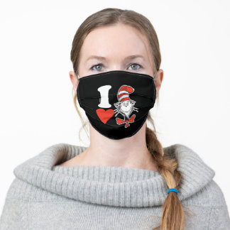Dr. Seuss Valentine | I Heart The Cat in the Hat Adult Cloth Face Mask