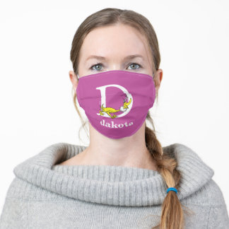 Dr. Seuss's ABC: Letter D - White | Add Your Name Adult Cloth Face Mask