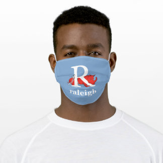 Dr. Seuss's ABC: Letter R - White | Add Your Name Adult Cloth Face Mask