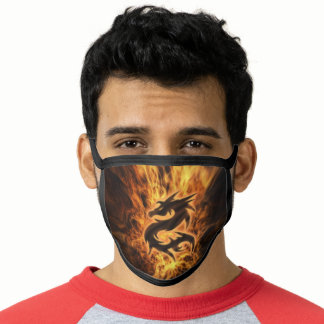 Dragon Fire Comfortable Ear Loops Men's Washable Face Mask