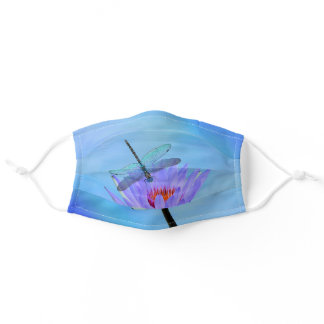 Dragonfly & Water Lily Pleated Cloth Face Masks