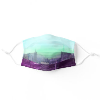 Dreamy Bokeh NYC Manhattan Skyline Adult Cloth Face Mask