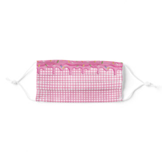 Dripping Frosting on Gingham Adult Cloth Face Mask