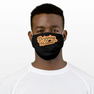 Dripping Melanin Retro Vintage Style Graphic Girls Adult Cloth Face Mask