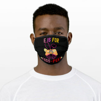 E Is For Eggs-Pert Funny Easter Video Game Adult Cloth Face Mask