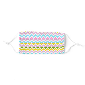 Easter Colors Striped Zigzag Design Adult Cloth Face Mask