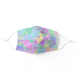 Easter Eggs collection Adult Cloth Face Mask