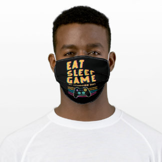 Eat Sleep Game - My Lockdown 2021 Adult Cloth Face Mask