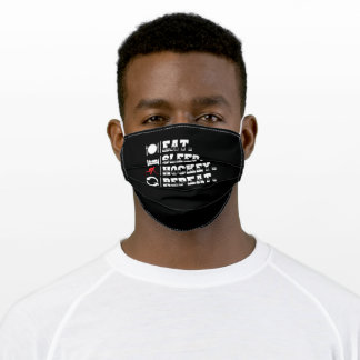Eat Sleep Hockey | Player Gift Idea Adult Cloth Face Mask
