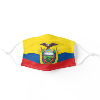 Ecuador Flag Cloth Face Mask