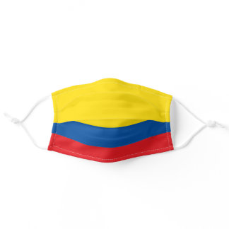 Ecuadorian flag adult cloth face mask