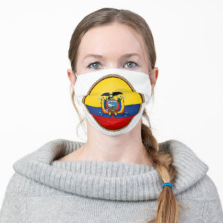 Ecuadorian Flag Seal Adult Cloth Face Mask