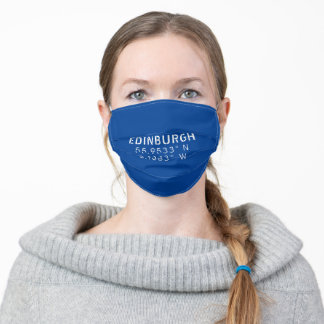 Edinburgh Latitude & Longitude Adult Cloth Face Mask