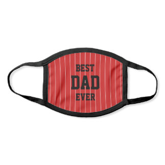 Editable Colors Baseball Stripes Best Dad Ever Face Mask