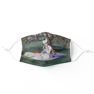 Edouard Manet - The Monet family in their garden Adult Cloth Face Mask
