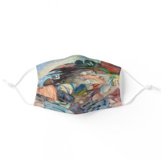 Edvard Munch - Shore with Red House Adult Cloth Face Mask