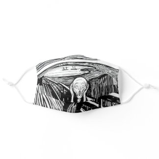 Edvard Munch - The Scream Lithography Adult Cloth Face Mask