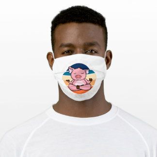 EFF You See Kay Why Oh You Yoga Smile Pig Adult Cloth Face Mask