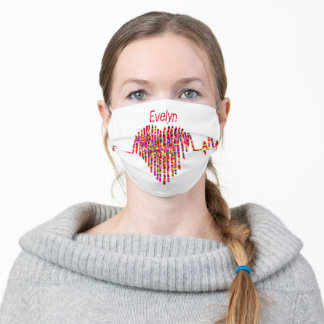 EKG heart ekg line Adult Cloth Face Mask