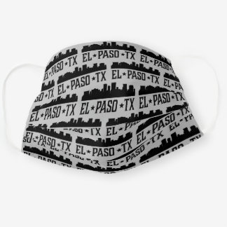 El Paso Texas City Skyline Cloth Face Mask