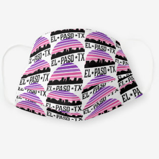El Paso Texas City Skyline Sunset Cloth Face Mask