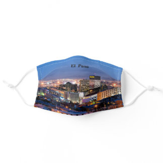 El Paso, Texas cityscape photograph Adult Cloth Face Mask