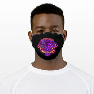 Electric dragon adult cloth face mask