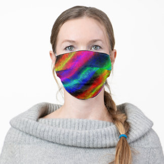 ELECTRIC RAINBOW ART ADULT CLOTH FACE MASK