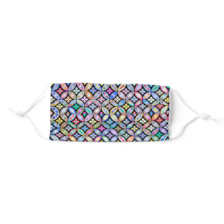 Elegant Colorful Abstract Stained Glass Pattern Adult Cloth Face Mask