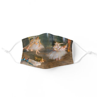 Elegant Femme Girly French Pastel Ballet Dancers Adult Cloth Face Mask