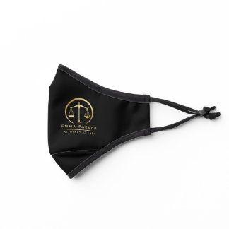 Elegant Gold & Black Lawyer Black Premium Face Mask