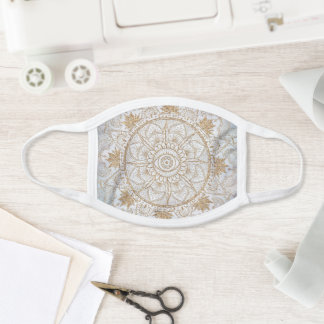 Elegant Gold Eye Sun Moon Mandala Design Face Mask