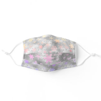 Elegant Holographic Christmas Snowflake Pattern Adult Cloth Face Mask