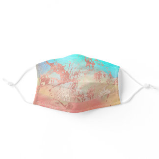 Elegant modern abstract copper rose gold mint adult cloth face mask