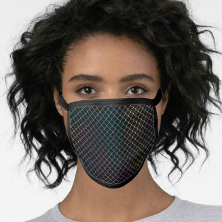 Elegant Modern Colorful Fence Chain Pattern   Face Mask