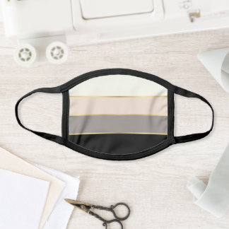 Elegant Wide Stripes Pattern Face Mask