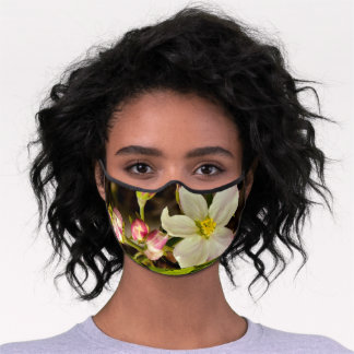 Elegant Women's  - Spring Apple Blossoms Premium Face Mask