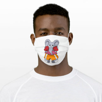 Elephant as Boxer with Boxing gloves Adult Cloth Face Mask